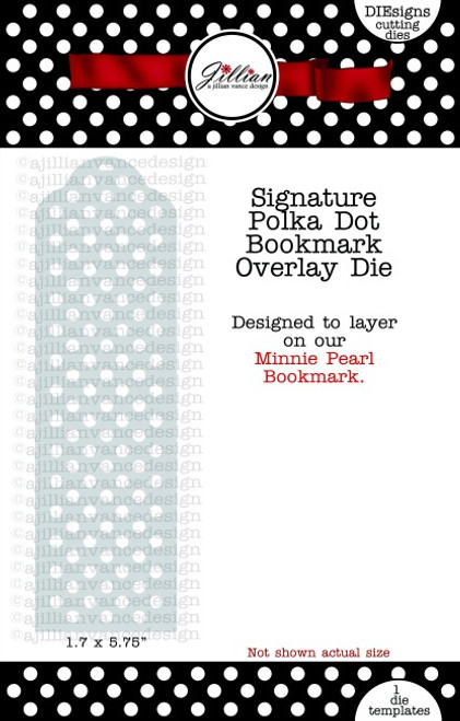 Polka Dot Bookmark Overlay Die