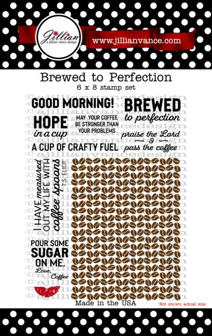 Brewed to Perfection 6 x 8 Stamp Set