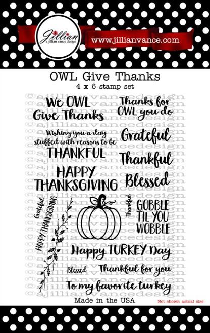 OWL Give Thanks Stamp Set