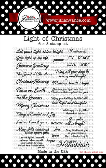 Light of Christmas 6 x 8 Stamp Set