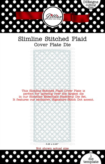 Slimline Stitched Plaid Cover Plate Die