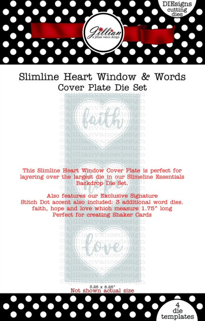 Slimline Heart Window & Words Cover Plate Die Set