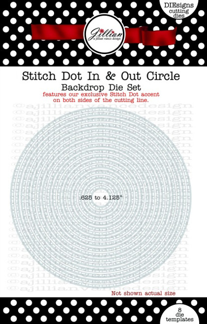 Stitched Dot In and Out Circle Backdrop Die Set