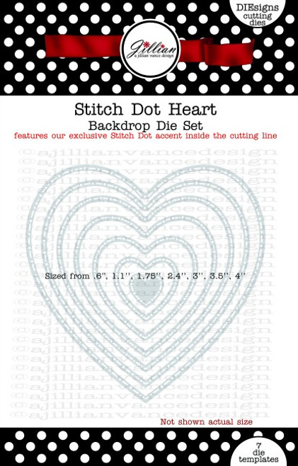 Stitch Dot Heart Backdrop Die Set
