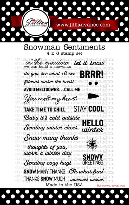 Snowman Sentiments Stamp Set
