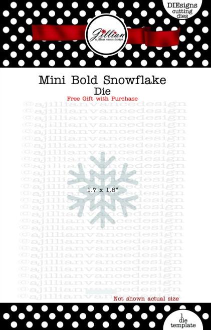 Mini Bold Snowflake Die