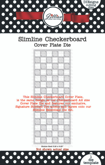 Slimline Checkerboard Cover Plate Die