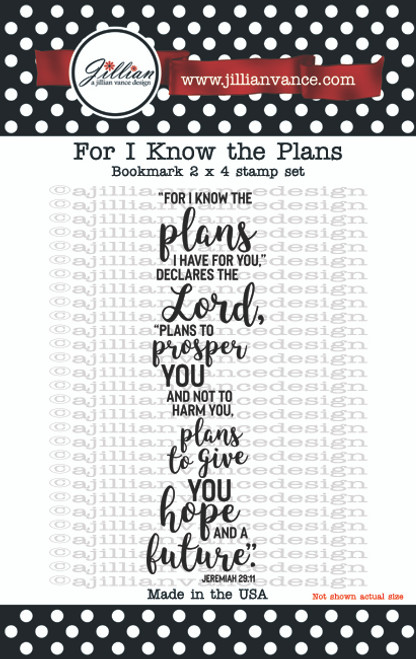For I Know the Plans Bookmark Stamp Set