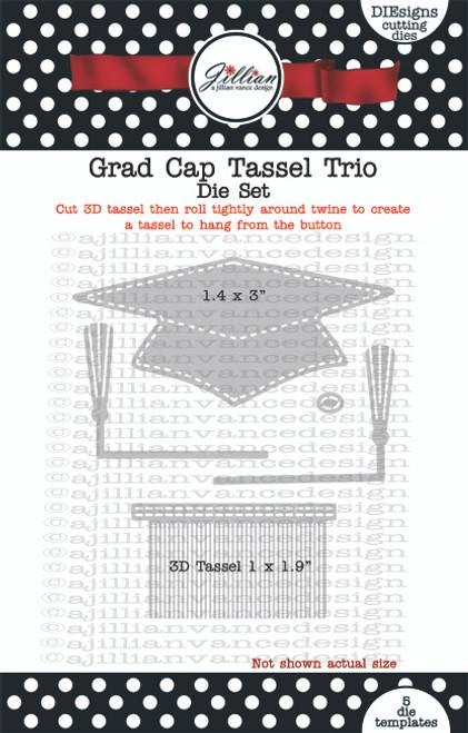 Grad Cap Tassel Trio Die Set