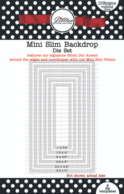 Mini Slimline Backdrop Die Set
