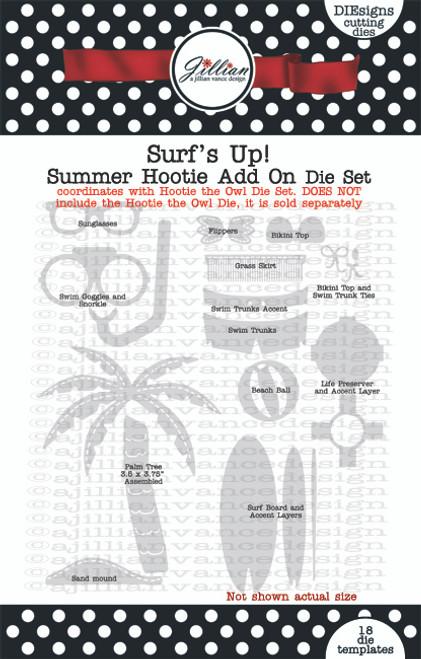Surf's Up Summer Hootie Add -On Die Set