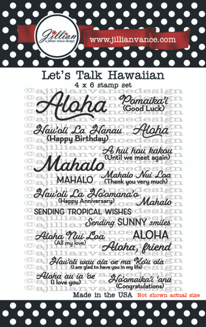 Let's Talk Hawaiian Stamp Set