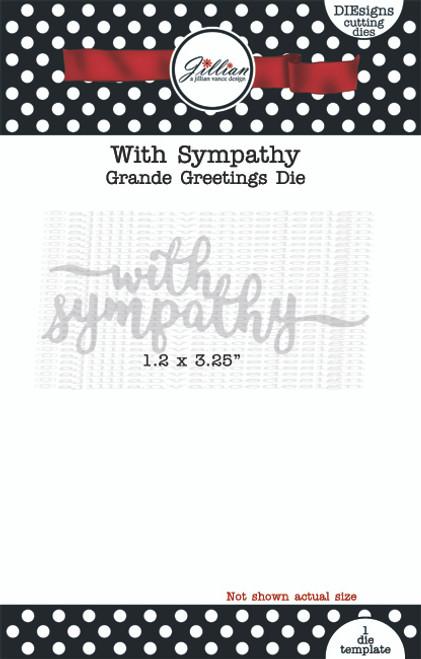 With Sympathy Grande Greetings Word Die