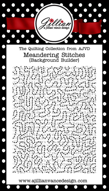 Meandering Stitches Background Builder Cling Stamp