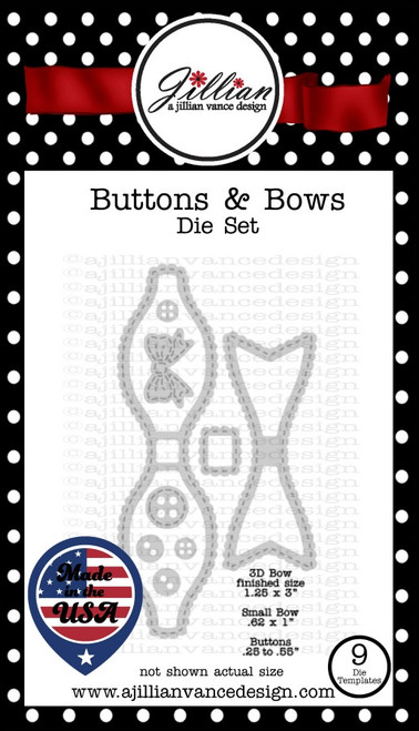 Buttons & Bows Die Set