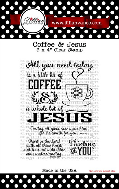 Coffee & Jesus 3 x 4 Stamp Set