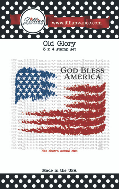 Old Glory 3 x 4 Stamp Set