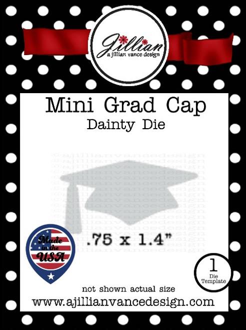 Mini Grad Cap Dainty Die