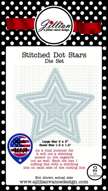 Stitched Dot Stars Die Set