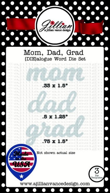 Mom, Dad and Grad DIEalogue Word Die Set