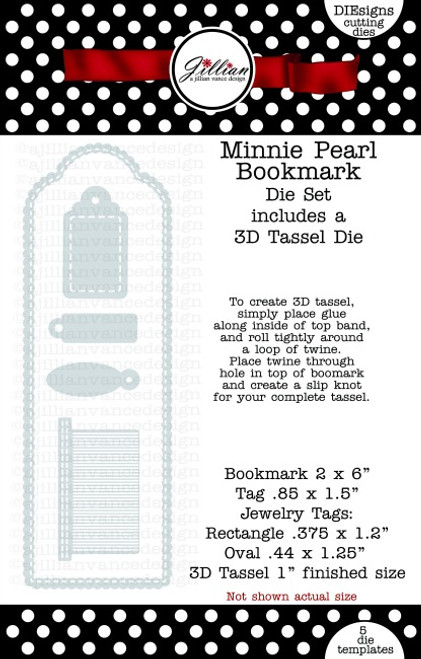 Minnie Pearl Bookmark Die Set