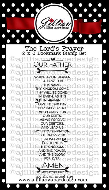 The Lord's Prayer Bookmark Stamp