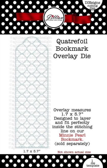 Quatrefoil Bookmark Overlay Die