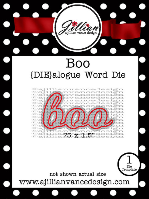 Boo DIEalogue Word Die