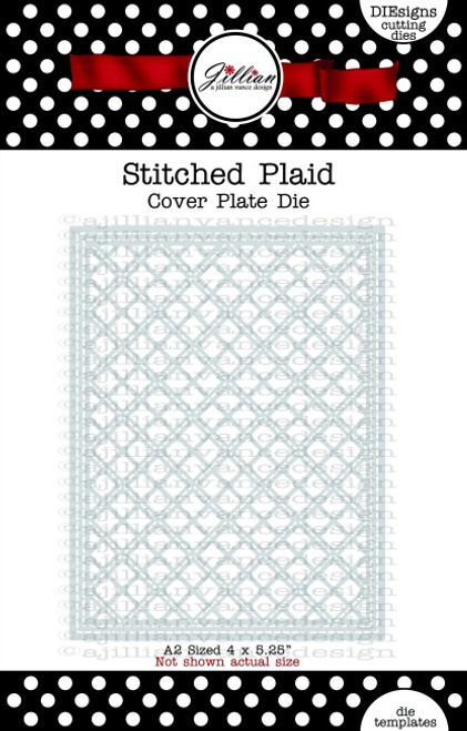 Stitched Plaid Cover Plate Die