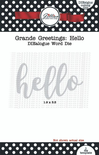 Grande Greetings Hello Word Die