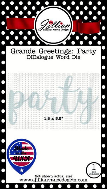 Grande Greetings Party Word Die