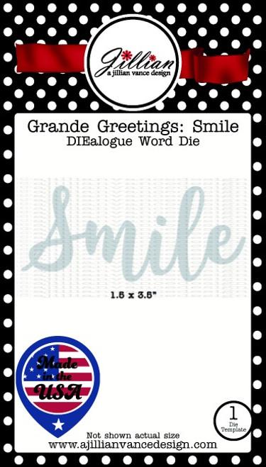 Grande Greetings Smile Word Die