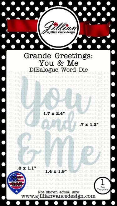 Grande Greetings You and Me Word Die