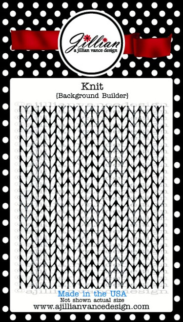 Knit Background Builder Cling Stamp