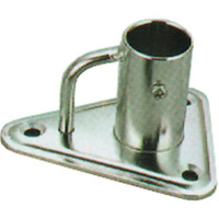 Stainless 6deg Stanchion Triangular Base