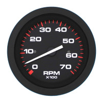 Tachometer  7000 Rpm. Black