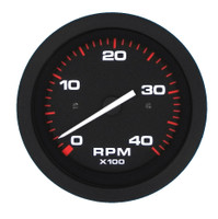 Tachometer  4000 Rpm. Black