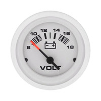 Voltmeter, 8 to 18 Volts DC White
