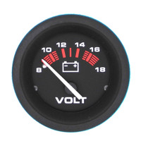 Voltmeter, 8 to 18 Volts DC Black