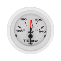 Water Temperature Gauge White