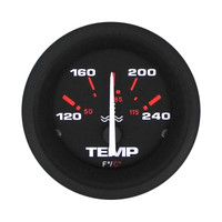 Water Temperature Gauge Black
