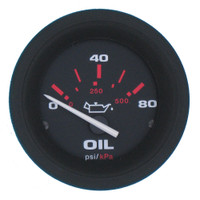 Oil Pressure Gauge Black
