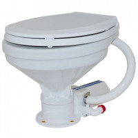 12V Large Bowl Electric Toilet/Soft Close Seat