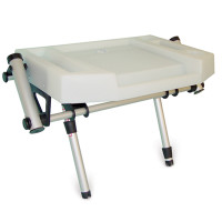 Medium Twin Leg Deluxe Bait Board with Twin Rod Holders.