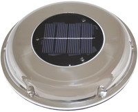 Solar Exhaust Vent - Stainless Cover
