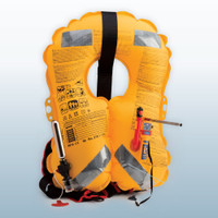 Ocean Signal rescueME AIS MOB attached to inflatable life jacket