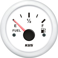 KUS Fuel Level Gauge - (240-33Ohm) - White