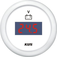 KUS Digital Voltmeter - (9-32V) - White
