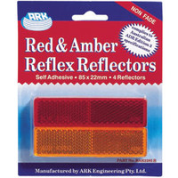 Trailer Reflector Pack 2 Amber-2 Red
