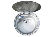 Bowl Sink & Glass Lid